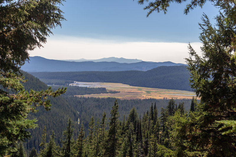 Sparks Lake from Soda Creek Trail.