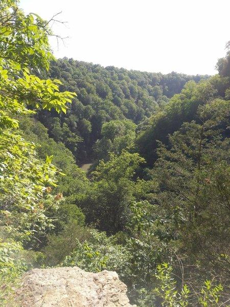 Overlooking river bluff