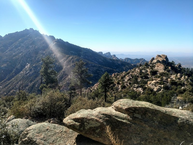 Looking SW towards Cathedral Rock from lower portion of Lemmon Ridge.