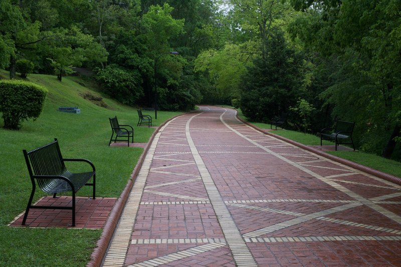 Benches line the trail, allowing you to stroll at a leisurely pace and take breaks as needed.