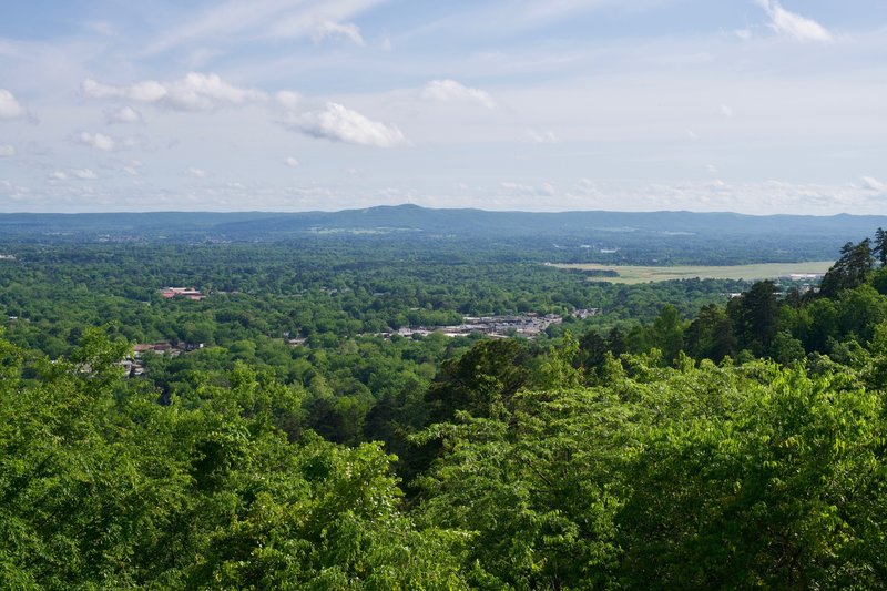 A view from the start of the Sunset Trail. The views from West Mountain are great.