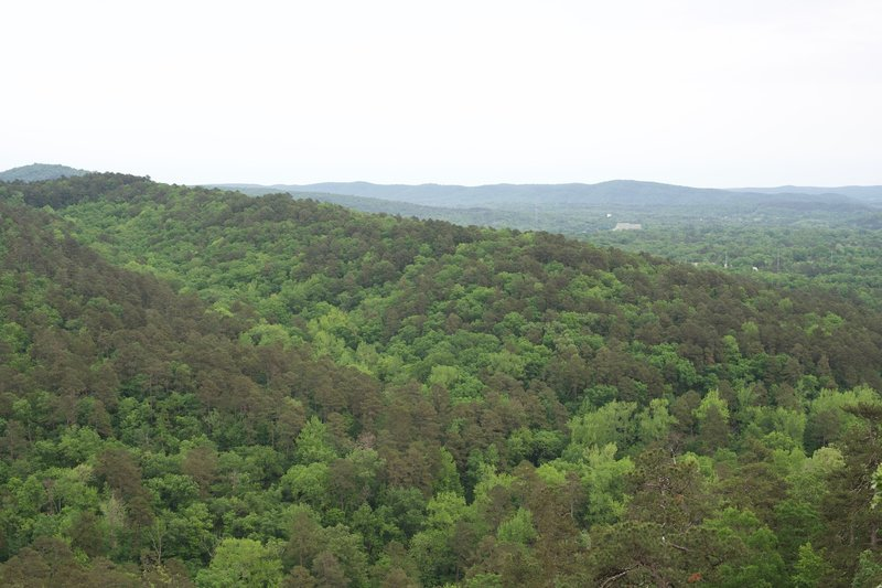 The view from the top of Goat Rock Overlook.