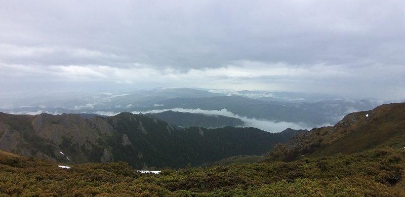 Mountain views.