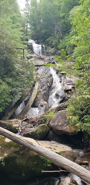 Larger of the falls on the hike. View is from the bridge at the base.