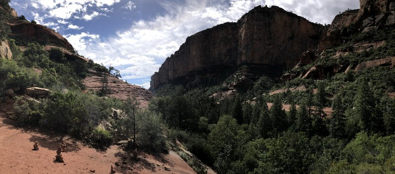 Overlooking Boynton Canyon at the very end of the train.