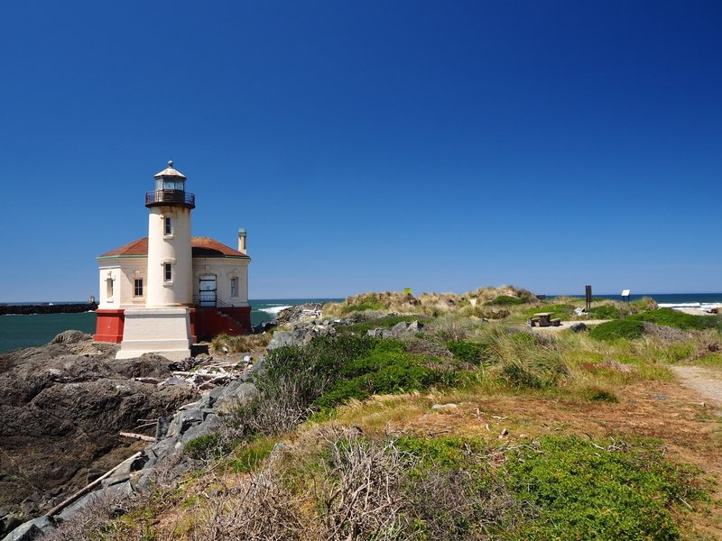 The historic Coquille River Lighthouse.