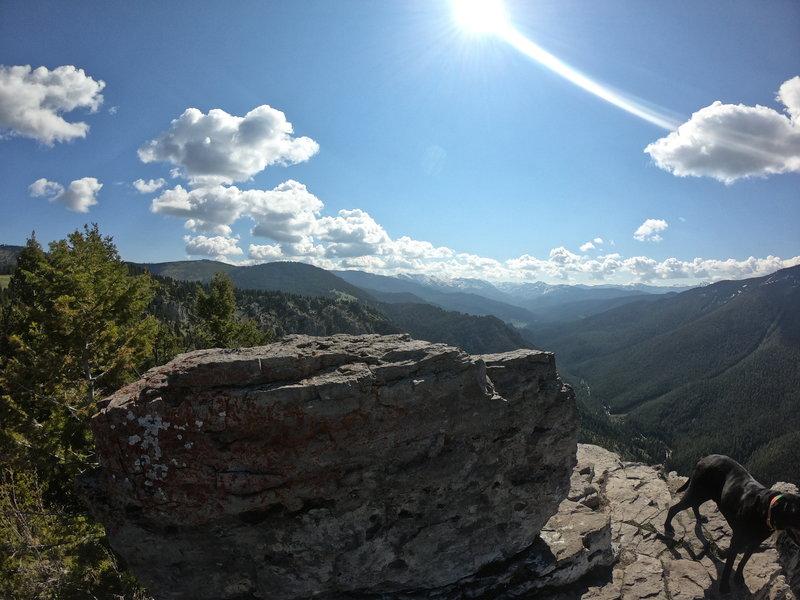 Looking east from Storm Castle Peak.
