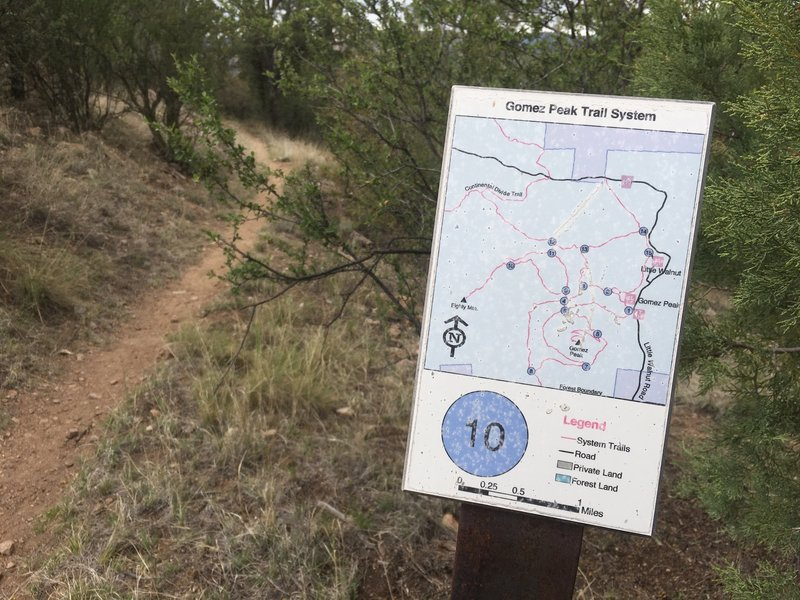 Markers on Mountain Loop Trail