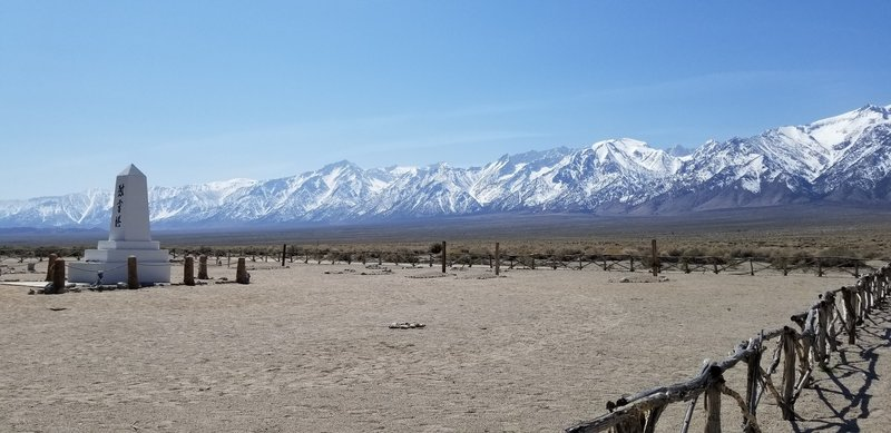Memorial to those detained at Manzanar.