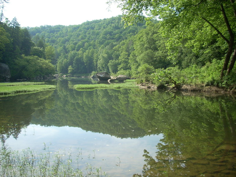 View from river campsite