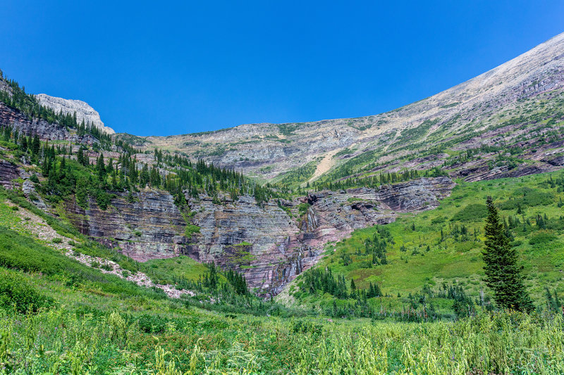 Small waterfalls right below Triple Divide Peak.