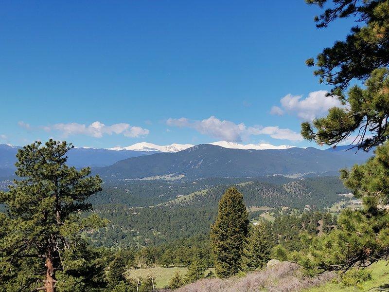 Views of Mt. Evans on Genesee Trail.