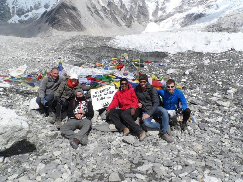 Relaxing time in Everest base camp (5364 meters) during Everest base camp trek with magic Himalaya treks.
