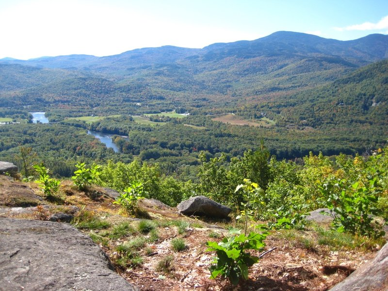 Shelburne and the Androscoggin River from the summit Ledges