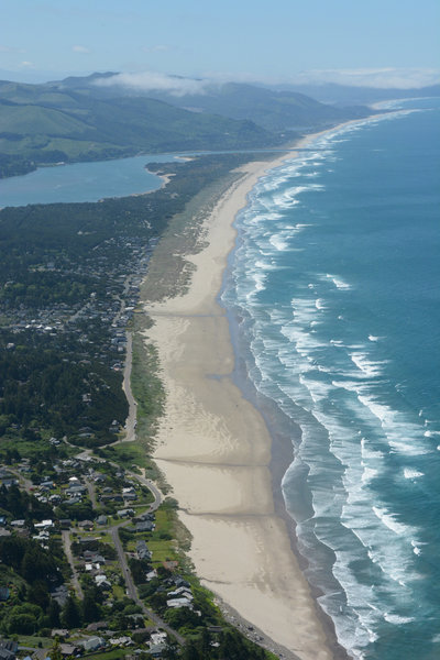 Nehalem Bay and Beach looks good from above.