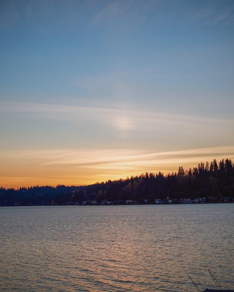 A beautiful sunset over Lake Sammamish