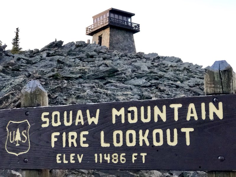 Fire lookout from below