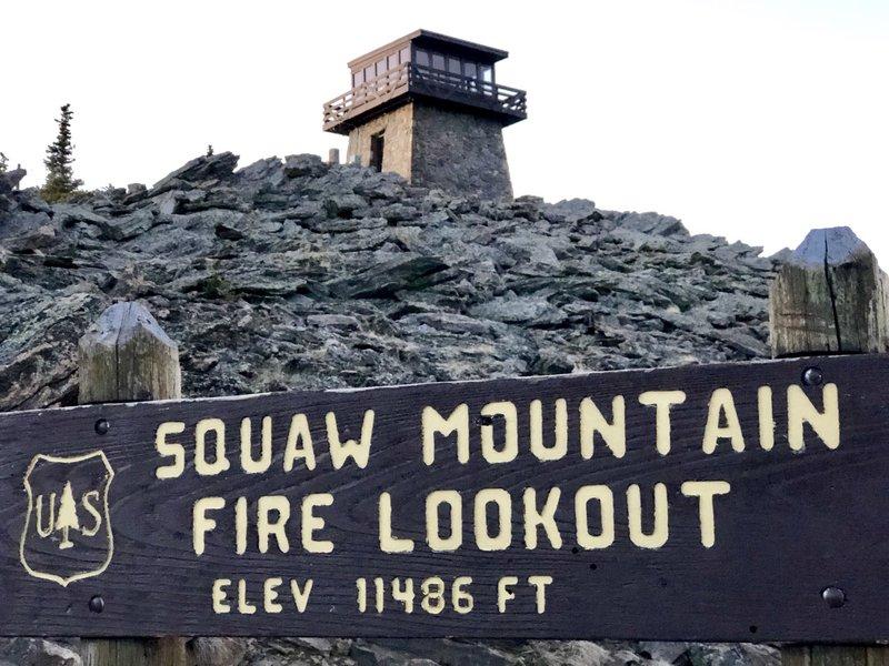 Fire lookout from below