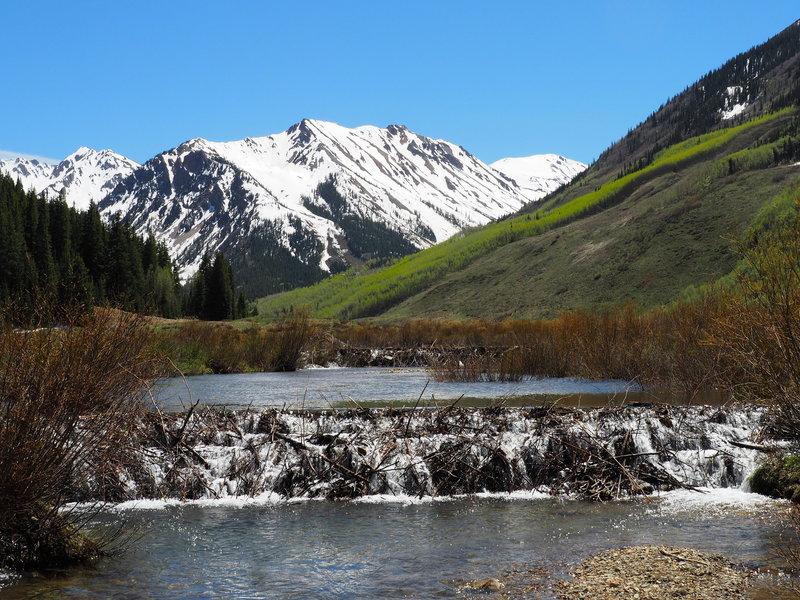 Spring melt flowing down Castle Creek.