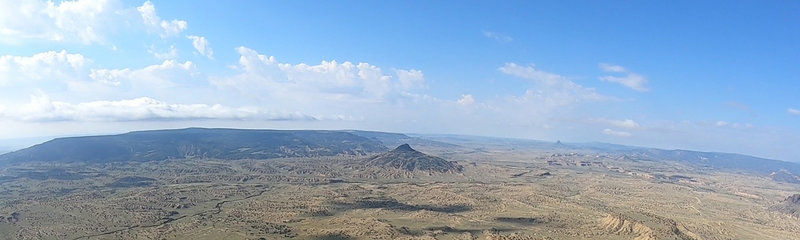 A view from the summit of Cabezon Peak.