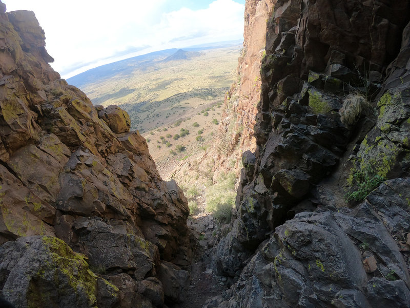 Another shot from above the gully.