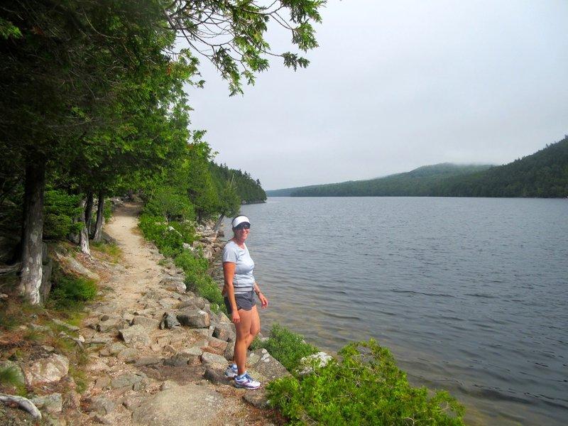 Running along Long Pond.