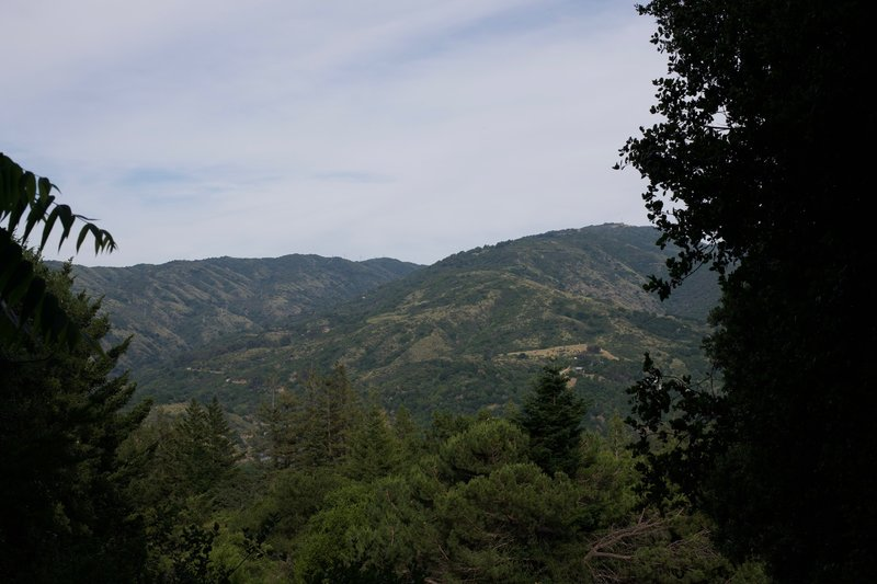Most of the views are obstructed by trees, but occasionally you get a glimpse of the surrounding hills.