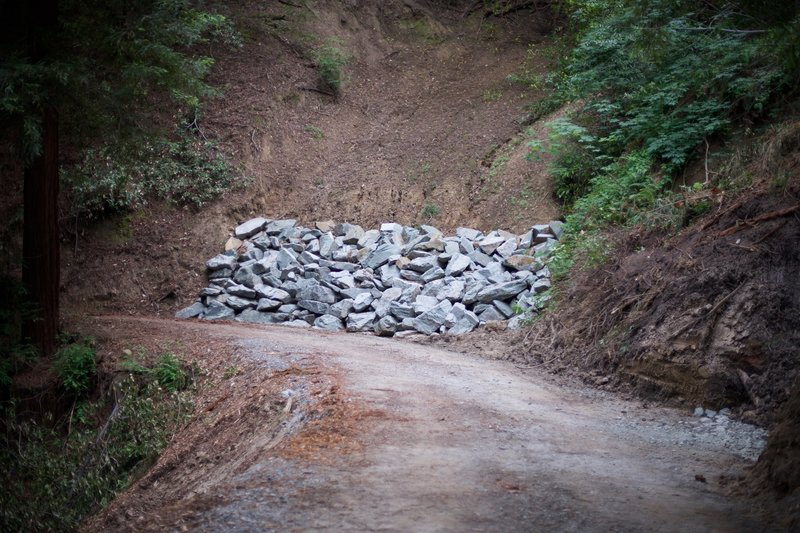 The preserve has been worked on since 1999 to prepare it for public use. Here, rocks help counteract the threat of a landslide happening.