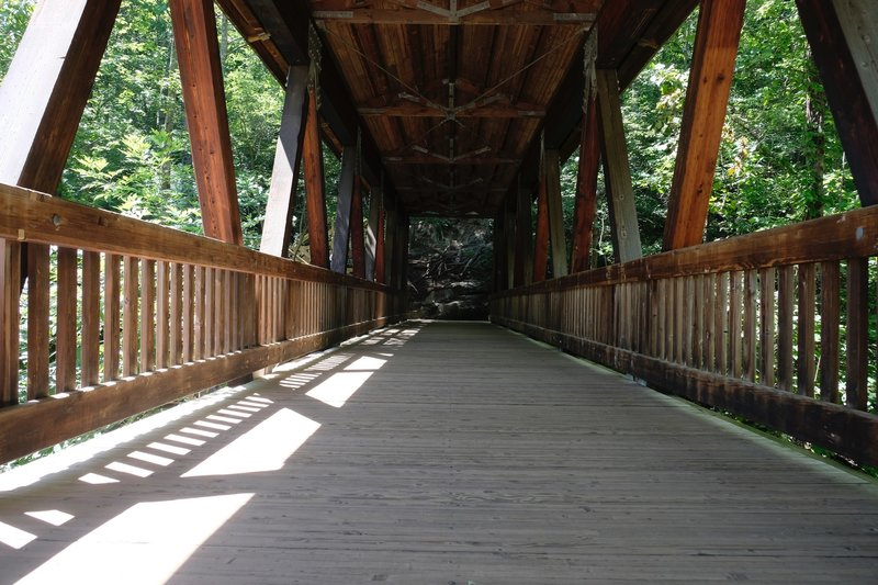 Vickery Creek covered footbridge.