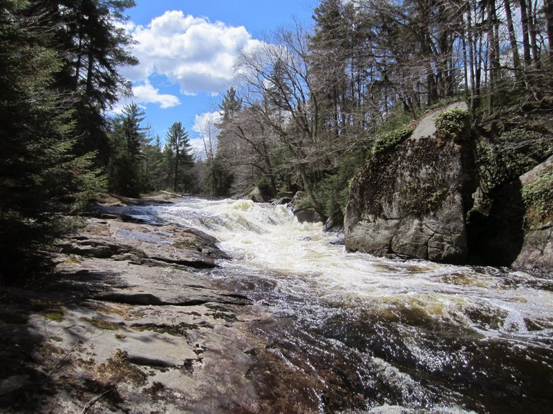 Fast spring water on the Round Lake outflow stream.