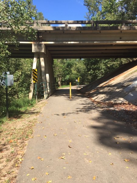Statesville Greenway - Fourth Creek Section underpass.