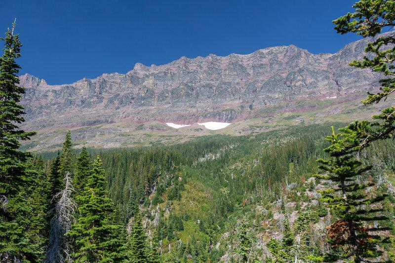 Eastern side of Sinopah Mountain.