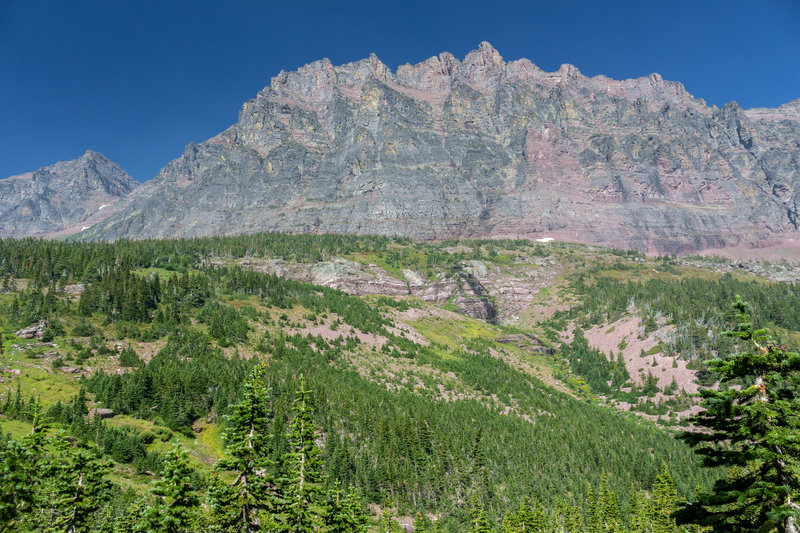 Mount Rockwell and the southern flank of Sinopah Mountain.