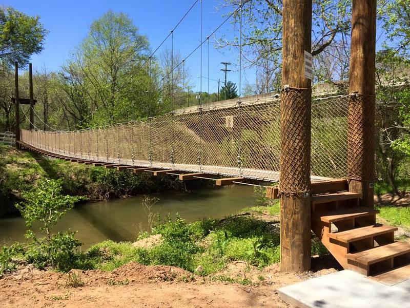 Suspension Bridge at First Broad River Trail