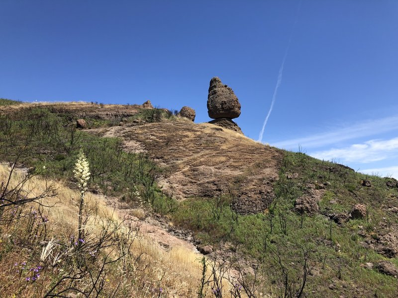 On the trail to Balancing Rock.