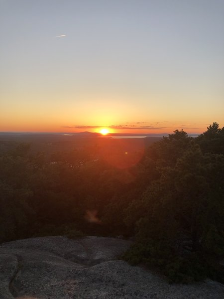 Sunset near the Summit of Acadia Mountain