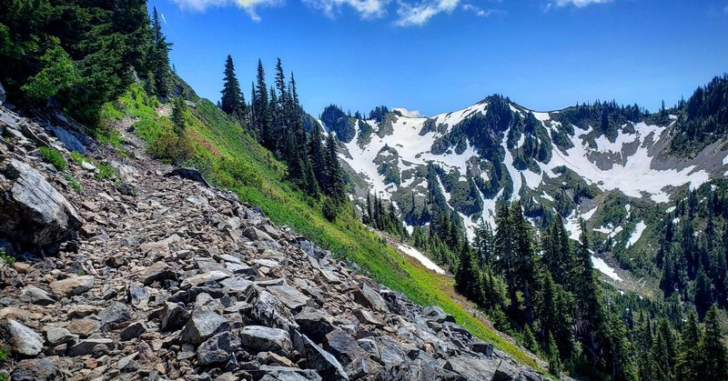 Looking East towards the accent to the High Divide ridge top.