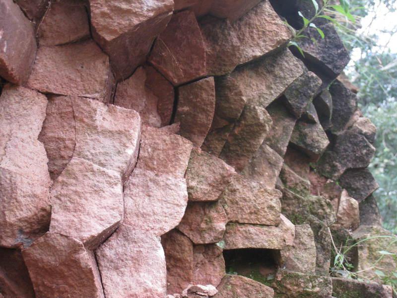 Close up of the Piedra Hexagonal