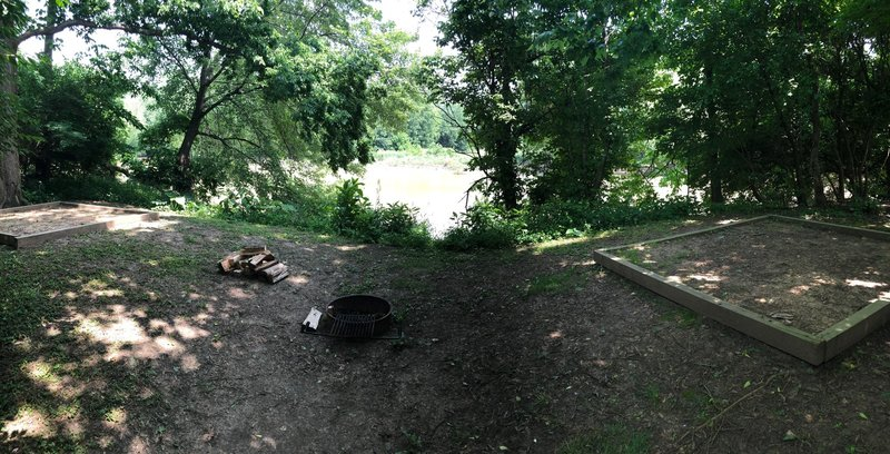 Campsite #5. A little distorted, because it's a panorama.