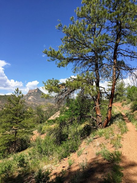 Views of Cathedral Spires from a few miles into the run as described in Trail Run Project.