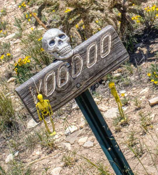 Fun additions to the Voodoo Trail sign.