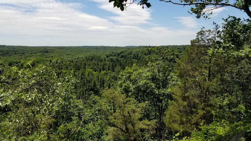 The view from Spy Rock.