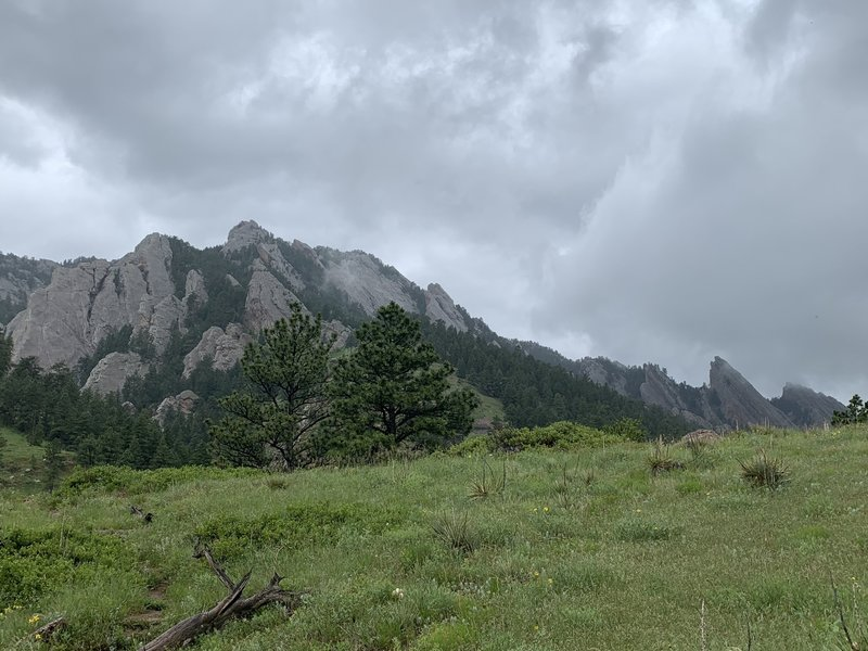 Flatirons looking north.