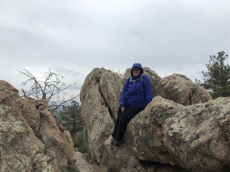 The rocky summit.
