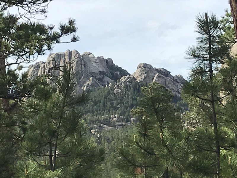 Mount Rushmore from The Centennial Trail.