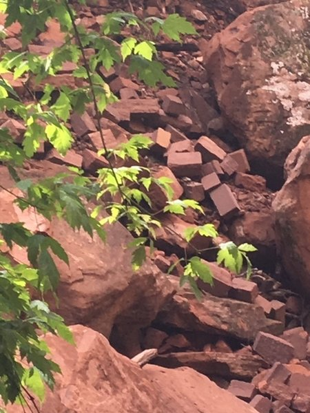 Trail damage on way to Middle and Upper Emerald Pools. June 17, 2019.