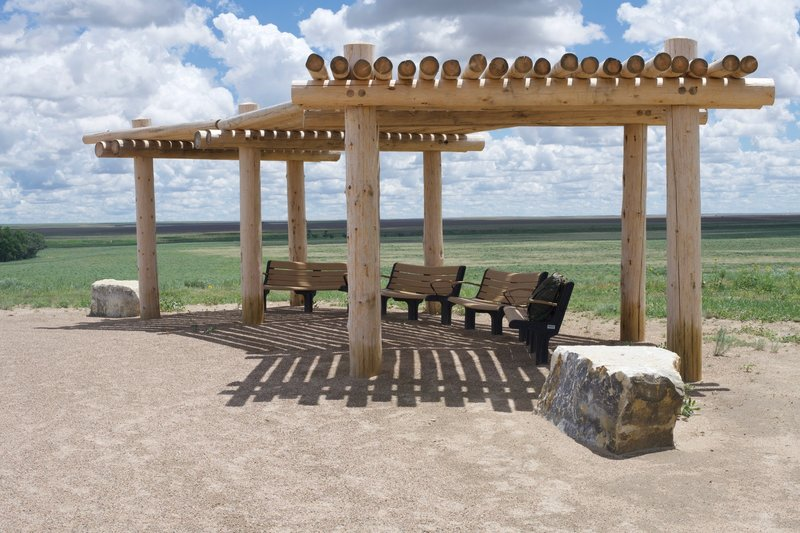 The pergola at the monument on the hill allows visitors a chance to sit and reflect upon the events that happened here in November 1864.