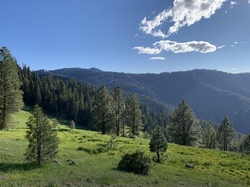 A beautiful view looking southwest towards Dutchman Peak.