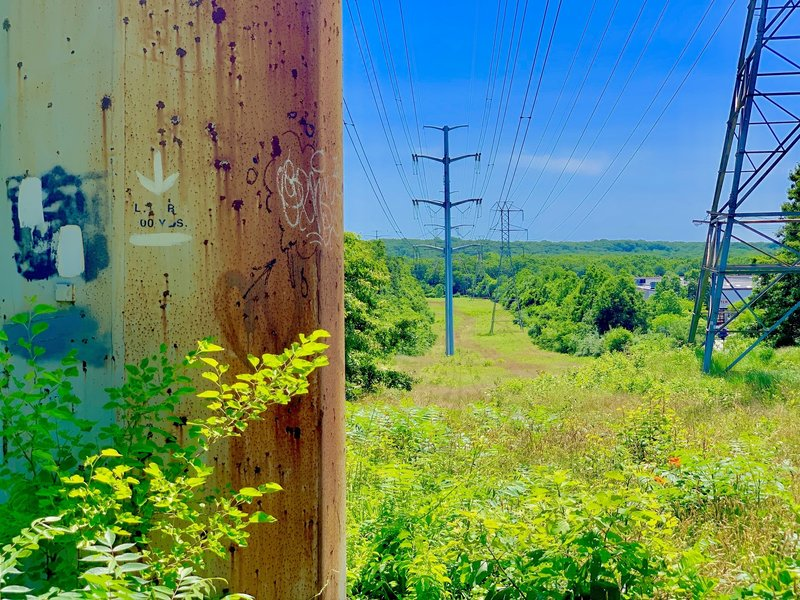Power lines along the trail.