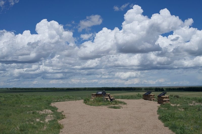 The end of the trail, with benches to rest and sweeping views of the valley.